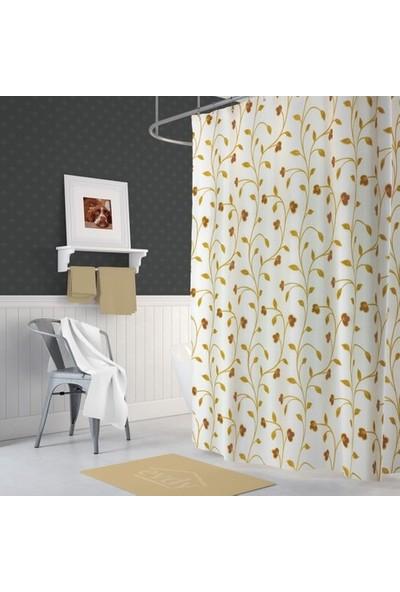 Evdy 5948 Sarmaşık Desen Çift Kanat 2 x 100 x 200 cm Duş Perdesi