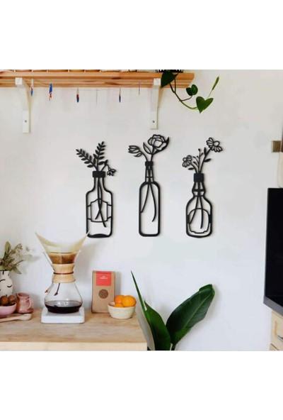 Artanhediyelik 3'lü Vazo Çiçek Dekor Mutfak