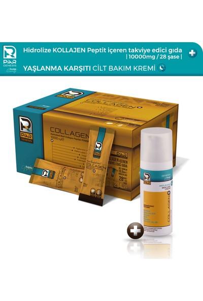 Piar Genesis Collagen+ Gıda Takviyesi & Yaşlanma Karşıtı Cilt Bakım Kremi - Gece