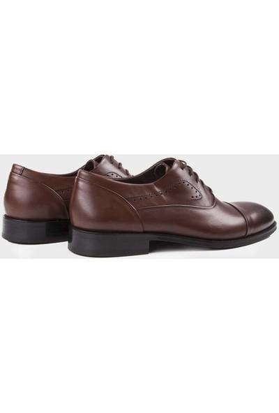 Hatemoğlu Kahverengi Klasik Oxford Ayakkabı