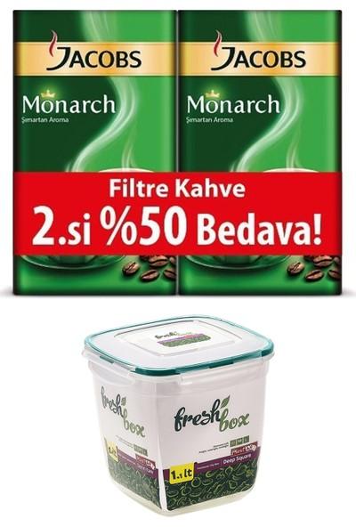 Jacobs Monarch Filtre Kahve 500 gr x 2'li + Kahve Saklama Kabı