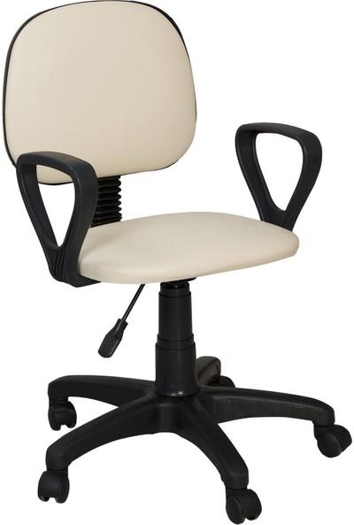 Tomar Kollu Bilgisayar Sekreter ve Çalışma Sandalyesi - Krem