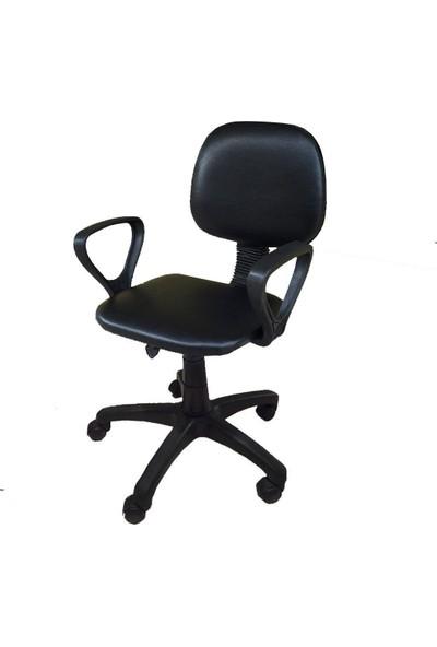 Tomar Kollu Bilgisayar Sekreter ve Çalışma Sandalyesi - Siyah