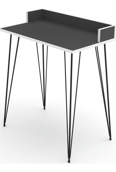 Knsz Ofis Masası Kamran 075*070*40 Gri Bilgisayar Çalışma Büro