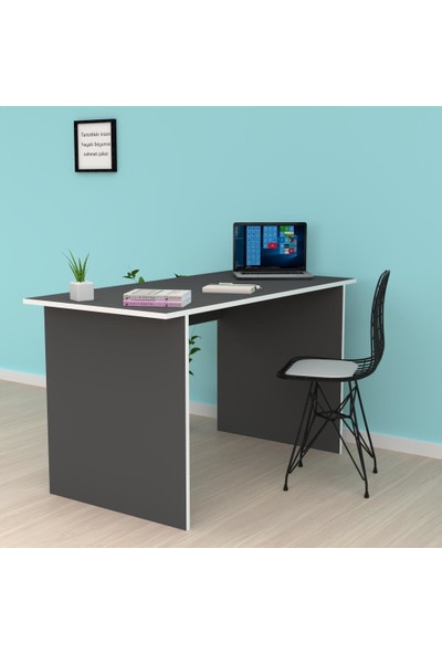 Kenzlife Ofis Masası Tamiko 075*070*40 Gri Bilgisayar Çalışma Büro