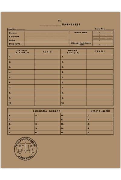 Kaya Mahkeme Dava İcra Avukat Dosyası Kraft 1. Kalite 50'li