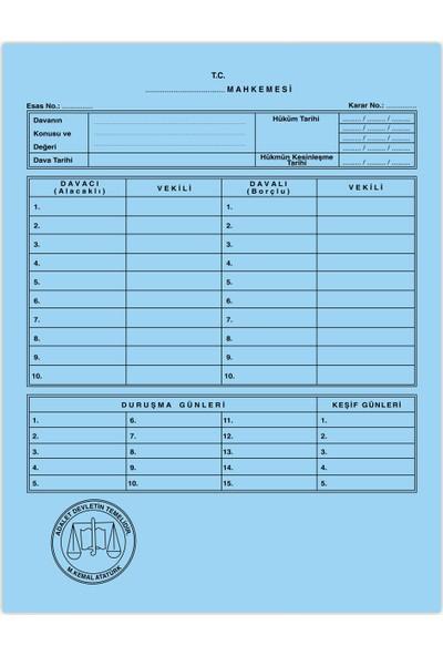 Kaya Mahkeme Dava İcra Avukat Dosyası Mavi 1. Kalite 100'lü