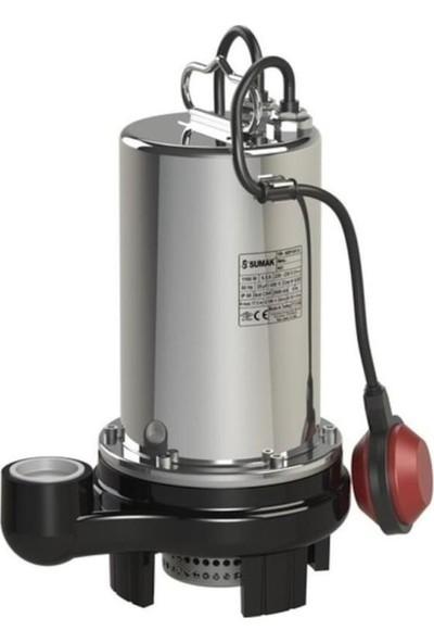 Sumak SDF15 Açık Fanlı Pis Su Dalgıç Pompası 1.5 Hp 220V