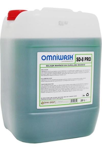 Omniwash Sd-8 Pro 5 x 20 lt Endüstriyel Bulaşık Makine Parlatıcı + Omn-8 Parlatıcı Pompası