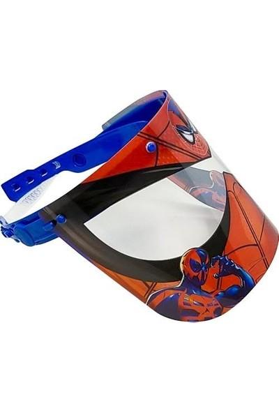 Jetfast Spiderman Erkek Çocuk Oynar Başlıklı Yüz Koruyucu Siperlik Koruma