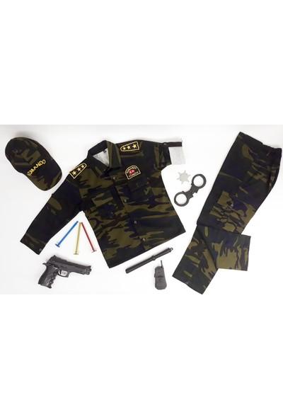Liyavera Komando Asker Kostümü Çocuk Kıyafeti