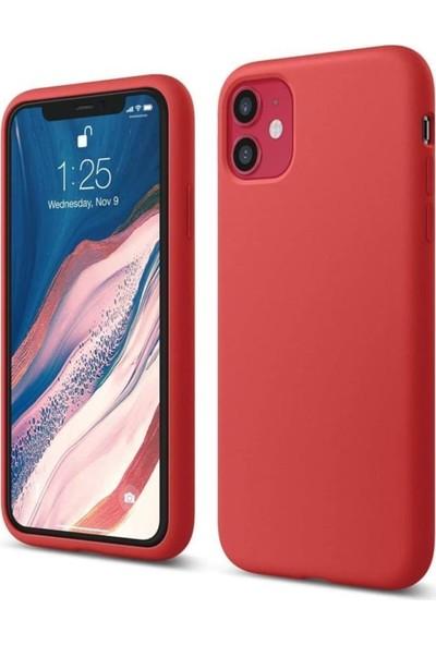 Atalay Apple iPhone 11 Lansman Silikon Kılıf Kırmızı