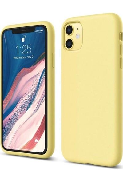 Atalay Apple iPhone 11 Lansman Silikon Kılıf Sarı
