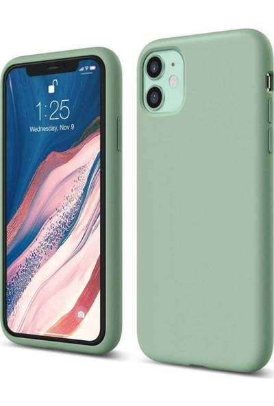 Atalay Apple iPhone 11 Lansman Silikon Kılıf Açık Yeşil