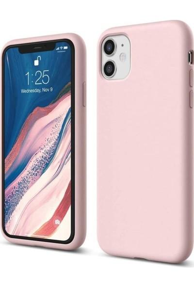 Atalay Apple iPhone 11 Lansman Silikon Kılıf Pudra