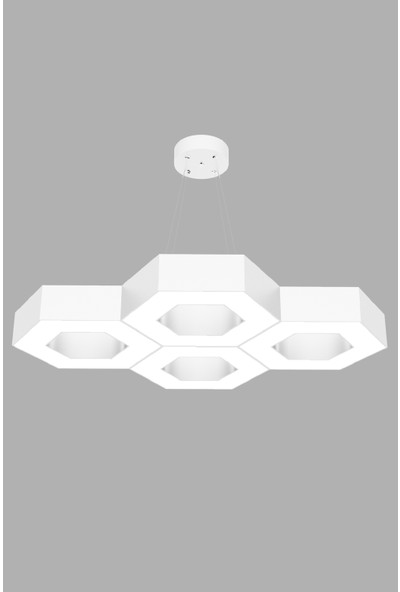 Hegza Lighting Stella (Beyaz Kasa, Beyaz Işık) Ledli Modern Avize