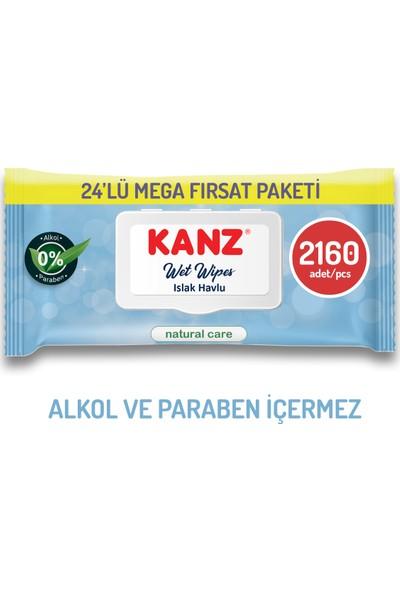 Kanz Natural Care Islak Mendil 24 Paket 2160 Yaprak