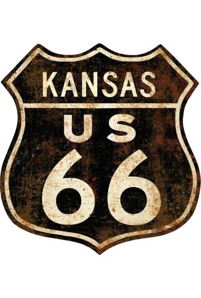 Route 66 Kansas Sticker 00386