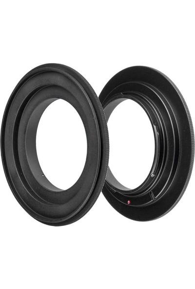 Ayex Nikon Makineler Için Ters Objektif Adaptörü 58 mm
