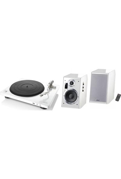 Denon Dp 450USB&HECO Ascada 2.0 Müzik Sistemi Beyaz