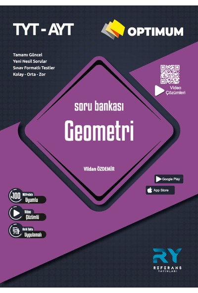 Referans Yayınları Optimum TYT AYT Geometri Soru Bankası Tamamı Video Çözümlü (Kolay-Orta-Zor)