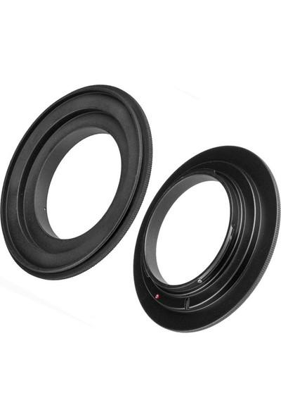 Ayex Sony E Mount, Sony Nex Makineler Için Ters Objektif Adaptörü 55 mm