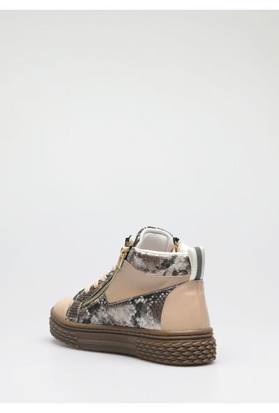 Altinayak Yılan Desen Fermuar Detay Sneaker