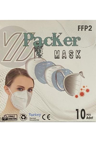 Packer Mask Ffp2 N95 Ce ve Iso Sertifikalı Maske 30 Adet