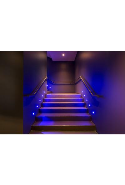 Ack 0,85W Yuvarlak Sensörlü Merdiven Armatür (Mavi Işık)