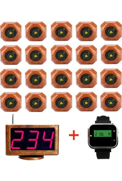 FixPOS Garson Çağrı Sistemleri 20'lik Paket 1 Adet Garson Saati