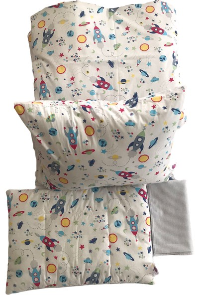 Daphne Kids Style Roketler Bebek Nevresim Takımı