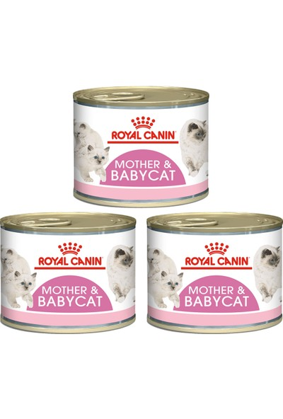 Royal Canin Mother And Baby Cat Konserve 195 gr 3 Adet