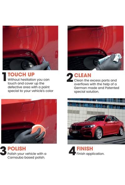 Color N Drive Honda İçin Rötüş Boyası NH552M - Sebring Silver Met Taş İzi ve Çizik Giderici Set- Basic