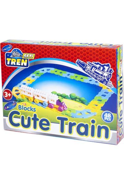 Kartoy Tren Seti 48 Parça