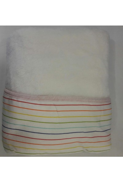 Welsoft Renkli Çizgili Battaniye