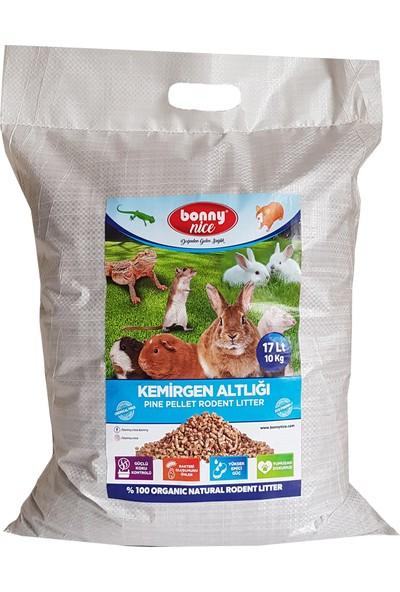 Bonny Nice Organik Çam Pelet Hamster Altlığı 10 kg 17 L x 3 Paket