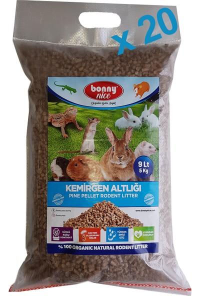 Bonny Nice Organik Çam Pelet Ginepig Altlığı 5 kg 9 L x 20 Paket