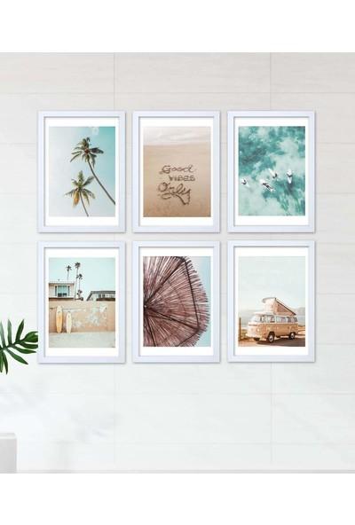Lyn Home Summer Poster 6'lı Tablo 6 Adet 23,5x33,5
