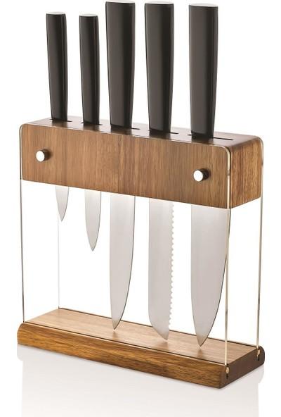 Schafer Solıde Bıçak Seti 6 Parça Siyah