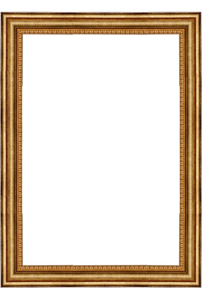 Selçuklu Sanat Puzzle Çerçevesi 42 mm 60 x 85 cm 1500'lük Eskitme Yaldız