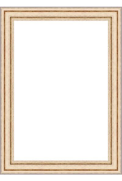 Selçuklu Sanat Puzzle Çerçevesi 42 mm 68 x 96 cm 2000'lik Beyaz
