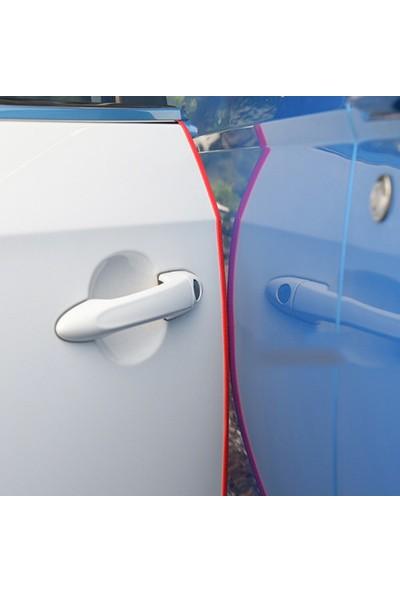 Buffer Şeffaf Araç Oto Kapı Bagaj Koruma Bandı Araba Kenar Koruyucu Plastik Yapışkan Fitil Şerit 5mt