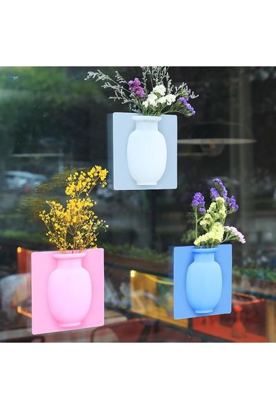ikraHome Silikon Vazo Dekoratif Yapışkanlı 3'lü
