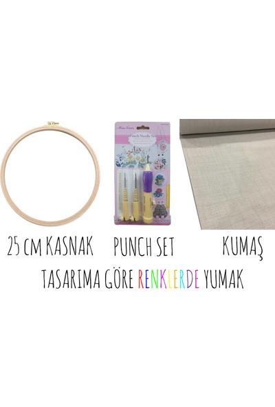 Turuncubirkafa Sarı Puantiyeli Kız Punch Yapım Kiti Seti