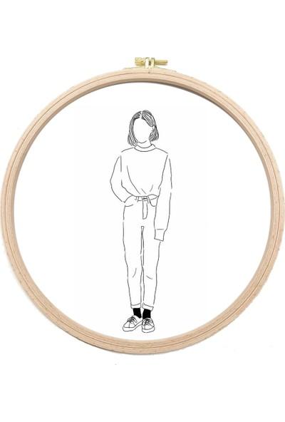 Turuncubirkafa Embroidery Genç Kız Nakış Kiti Seti