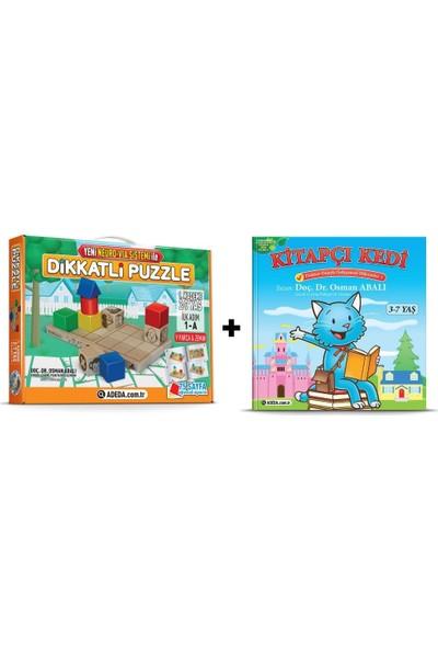 Adeda Dikkatli Puzzle 1. Kademe 2-7 Yaş İlk Adım + Kitap Kedi