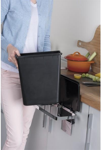 Pelikan Metal Askılı Mutfak Çöp Kovası 11LT-SIYAH