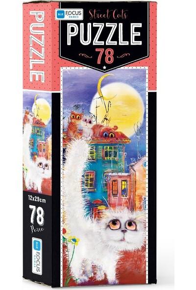 Blue Focus Street Cat Puzzle 78 Parça
