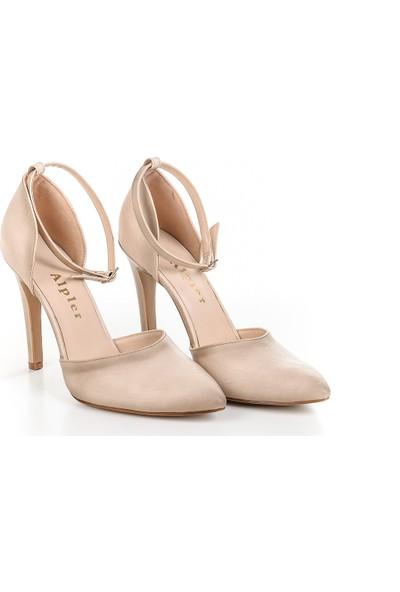 Alpler 10 cm Bilekten Bağlı Stiletto Kadın Ayakkabı
