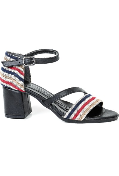 Park Moda Açık Tek Bant Topuklu Kadın Ayakkabı